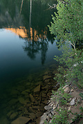 Reflections in Lane Lake, Hoover Wilderness, Humbolt-Toiyabe National Forest, California
