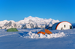 Icefields Discovery Camp in the St. Elias Icefields, Kluane National Park, Yukon