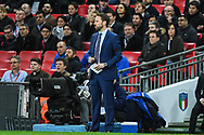 England Manager Gareth Southgate during the Friendly match between England and Italy at Wembley Stadium, London, England on 27 March 2018. Picture by Stephen Wright.