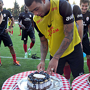 Galatasaray's players Colin Kazim RICHARDS during their training session at the Jupp Derwall training center in Istanbul Turkey on Thursday,  August 20, 2011. Photo by TURKPIX