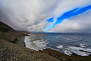 Dramatic clouds and sky. Photographed in Iceland, Teigarhorn (near Djupivogur)