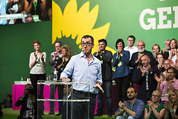 June 16, 2017 - Berlin, Germany - Co-head and leading candidate of the German Green Party (Buendnis 90/Die Gruenen) for the federal elections Cem Oezdemir speaks during the federal congress at the Velodrom in Berlin, Germany on June 16, 2017. (Credit Image: © Emmanuele Contini/NurPhoto via ZUMA Press)
