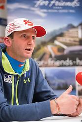 30.12.2014, for Friends, Mösern, AUT, FIS Ski Sprung Weltcup, 63. Vierschanzentournee, OeSV Pressekonferenz, im Bild Cheftrainer Heinz Kuttin (AUT) // Headcoach Heinz Kuttin of Austria during Pressconference of Austrian Team of the 63rd Four Hills Tournament of FIS Ski Jumping World Cup at the for Friends Hotel, Mösern, Austria on 2014/12/30. EXPA Pictures © 2014, PhotoCredit: EXPA/ JFK
