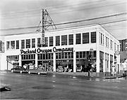 """Ackroyd 01084-2. """"Bullier & Bullier. Portland buildings. October 30, 1948"""" """"Packard Motors. NW corner of 20th Place & West Burnside"""""""
