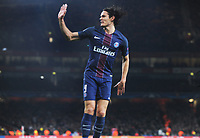 Football - 2016 / 2017 UEFA Champions League - Group A: Arsenal vs. Paris Saint-Germain<br /> <br /> Edinson Cavani of PSG  celebrates his goal at The Emirates.<br /> <br /> COLORSPORT/ANDREW COWIE