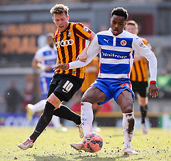 Bradford City's Billy Clarke and Reading's Nathaniel Chalobah  - Photo mandatory by-line: Matt McNulty/JMP - Mobile: 07966 386802 - 07/03/2015 - SPORT - Football - Bradford - Valley Parade - Bradford City v Reading - FA Cup - Quarter Final