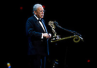 """Sir David Frost, recipient of """"The Founders Award"""" at the 2009 International Emmy Awards Gala hosted by the International Academy of Television Arts & Sciences in New York.  ***EXCLUSIVE***"""