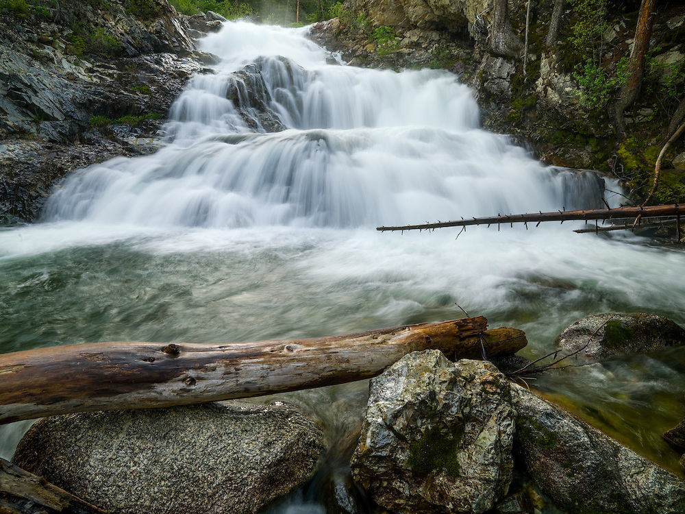 Fall Creek Waterfall in Wild Horse Canyon in the Pioneer Mountains in Central Idaho.  Licensing and Open Edition Prints.