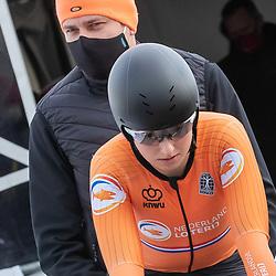 11-03-2021: Wielrennen: Healthy Ageing Tour: Lauwersoog. <br />Eva Jonkers