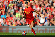 Luis Garcia of Liverpool legends team in action. Liverpool Legends  v Real Madrid Legends, Charity match for the LFC Foundation at the Anfield stadium in Liverpool, Merseyside on Saturday 25th March 2017.<br /> pic by Chris Stading, Andrew Orchard sports photography.