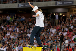 October 19, 2018 - Sydney, NSW, U.S. - SYDNEY, NSW - OCTOBER 19: Liv Lovelace of Australia competes in the Skateboarding street womens final at The X-Games at Spotless Stadium in Sydney on October 19, 2018. (Photo by Speed Media/Icon Sportswire) (Credit Image: © Speed Media/Icon SMI via ZUMA Press)