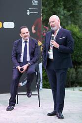 MATTEO MARANI E STEFANO BONACCINI  <br /> INAUGURAZIONE CALCIOMERCATO 2021 GRAND HOTEL RIMINI