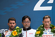 June 10-16, 2019: 24 hours of Le Mans. 8 TOYOTA GAZOO RACING, TOYOTA TS050 - HYBRID, Sébastien BUEMI, Kazuki NAKAJIMA, Fernando ALONSO, Toshio Sato, Toyota TMG President
