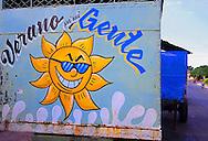 Sun sign in Pinar del Rio, Cuba.