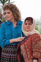 Valeria Golino, Italian Actress, Director, Producer and Katayoon Shahabi, Iranian Producer, at the Members of the Jury photo call at the 69th Cannes Film Festival Wednesday 11th May 2016, Cannes, France. Photography: Doreen Kennedy
