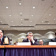 """Panel: Al Qaeda. The 9/11 Commission's 12th public hearing on """"The 9/11 Plot"""" and """"National Crisis Management"""" was held June 16-17, 2004, in Washington, DC."""