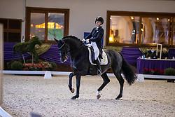 Kronberg, Gestüt Schafhof, KRONBERG _ Int. Festhallen Reitturnier Schafhof Edition 2020<br /> <br /> WALDMANN Lena (GER), Grey Fianell<br /> Louisdor-Preis - Finale 2020 <br /> Nachwuchspferde Grand Prix für 8 - 10j. Pferde / Einlaufprüfung <br /> Kurz Grand Prix<br /> Dressurprüfung Kl.S***<br /> <br /> 19. December 2020<br /> © www.sportfotos-lafrentz.de/Stefan Lafrentz