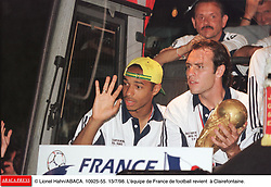 Former Arsenal and France striker Thierry Henry has announced his retirement from football after a trophy-laden 20-year career to take up a media role. The 1998 World Cup winner, 37, left New York Red Bulls this month but there was speculation he might choose to play on at another club. File photo : ©Lionel Hahn/ABACA.10925.55.Paris-France,12/07/ 1998. France made soccer history here on Sunday night, when the underdogs beat defending champions Brazil 3-0 to win the last World Cup this century before a delirious crowd of 80,000 people.