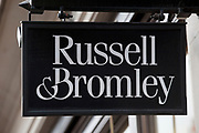 Sign for shoe shop Russell & Bromley.