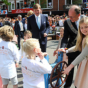 Koningsdag 2014 in Amstelveen, het vieren van de verjaardag van de koning. / Kingsday 2014 in Amstelveen, celebrating the birthday of the King. <br /> <br /> <br /> Op de foto / On the photo:  Prinses Amalia / Princes Amalia