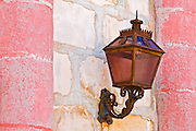 Lamp at the entrance to the Santa Barbara Mission (Queen of the missions), Santa Barbara, California