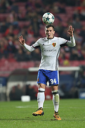 December 5, 2017 - Lisbon, Portugal - Basel's midfielder Taulant Xhaka from Albania in action during the UEFA Champions League Group A football match between SL Benfica and FC Basel at the Luz stadium in Lisbon, Portugal on December 5, 2017. (Credit Image: © Pedro Fiuza/NurPhoto via ZUMA Press)