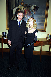 RICHARD & BASIA BRIGGS at a reception to support The Hyde Park Appeal held in the officers Mess, Household Cavalry Mounted Regiment, Hyde Park Barracks, London SW1 on 10th November 2008.