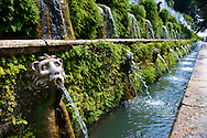 Hundred Fountains, 1569, Villa d'Este, Tivoli, Italy - Unesco World Heritage Site. .<br /> <br /> Visit our ITALY PHOTO COLLECTION for more   photos of Italy to download or buy as prints https://funkystock.photoshelter.com/gallery-collection/2b-Pictures-Images-of-Italy-Photos-of-Italian-Historic-Landmark-Sites/C0000qxA2zGFjd_k<br /> If you prefer to buy from our ALAMY PHOTO LIBRARY  Collection visit : https://www.alamy.com/portfolio/paul-williams-funkystock/villa-este-tivoli.html
