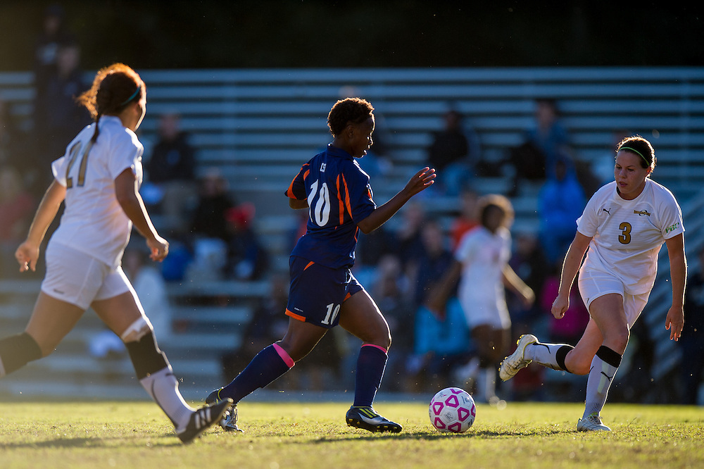 Oct 23, 2013; Morrow, GA, USA; Clayton State women's soccer player Jahmela Williams against Georgia Southwestern at CSU. CSU won 4-0. Photo by Kevin Liles/kevindliles.com