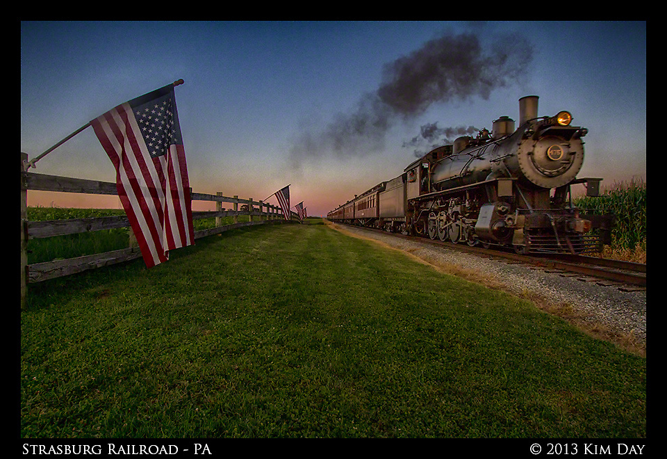 Strasburg Train At Sunset