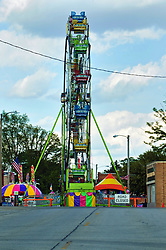 15 May 2019:  Carnival sites at a small Main Street carnival in a small rural town in Central Illinois