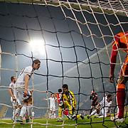 Galatasaray's scores during their Turkish Superleague soccer match Kasimpasa SK between Galatasaray at the Recep Tayyip Erdogan stadium in Istanbul Turkey on Saturday 21 March 2015. Photo by Aykut AKICI/TURKPIX
