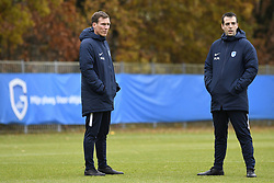 November 26, 2019, Genk, BELGIUM: Genk's head coach Hannes Wolf and Genk's assistant coach Miguel Moreira pictured during a training session of Belgian soccer team KRC Genk, Tuesday 26 November 2019 in Genk, in preparation of tomorrow's match against Austrian club RB Salzburg in the group stage of the UEFA Champions League. BELGA PHOTO YORICK JANSENS (Credit Image: © Yorick Jansens/Belga via ZUMA Press)