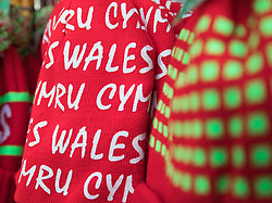 Wales bobble hats for sale<br /> <br /> Photographer Simon King/Replay Images<br /> <br /> Under Armour Series - Wales v Australia - Saturday 10th November 2018 - Principality Stadium - Cardiff<br /> <br /> World Copyright © Replay Images . All rights reserved. info@replayimages.co.uk - http://replayimages.co.uk