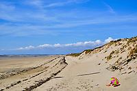 France, Manche (50), Blainville-sur-Mer, la plage à marée basse // France, Normandy, Manche department, Blainville-sur-Mer, the beach