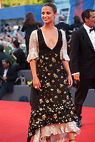 Alicia Vikander at the premiere of the film The Light Between Oceans at the 73rd Venice Film Festival, Sala Grande on Thursday September 1st 2016, Venice Lido, Italy.