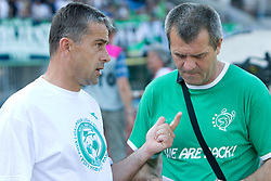 Coach of Olimpija Janez Pate and Boris Ferencak at final match of 2nd SNL league between NK Olimpija in NK Aluminij, on May 23, 2009, ZAK, Ljubljana, Slovenia. Aluminij won 2:1. NK Olimpija is a Champion of 2nd SNL and thus qualified to 1st Slovenian football league for season 2009/2010. (Photo by Vid Ponikvar / Sportida)