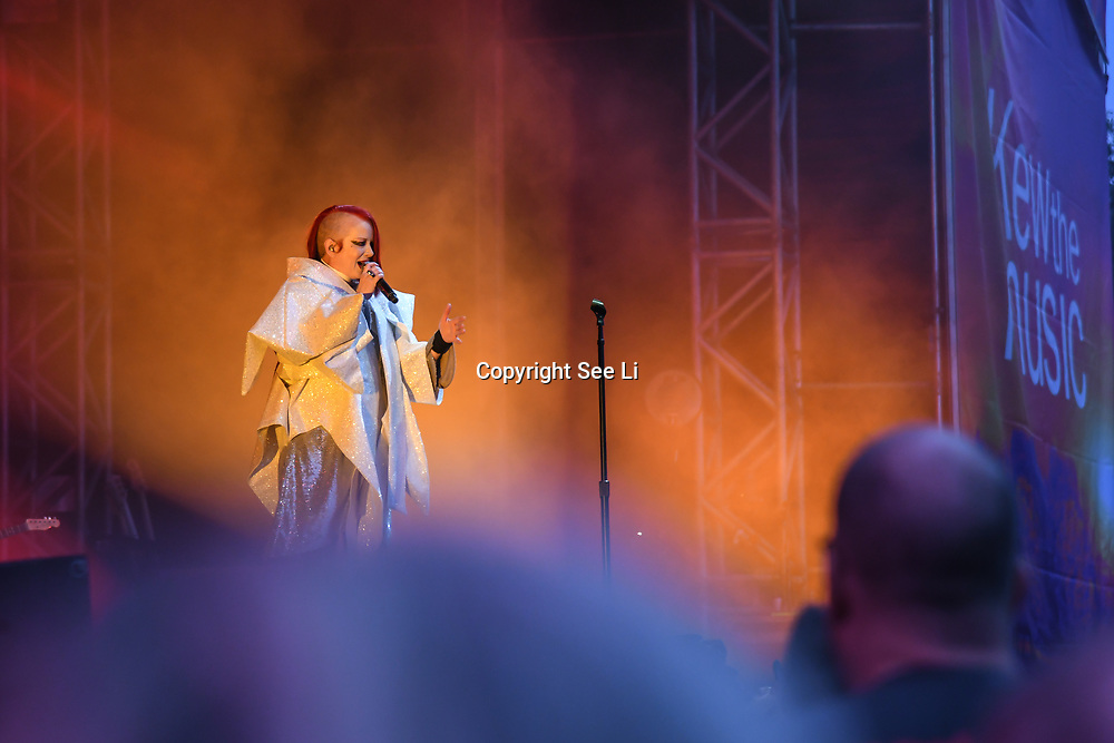 Du Blonde performs at Kew the Music 2019 on 13 July 2019, London, UK.