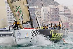 © Sander van der Borch.Alicante, 11 October 2008. Start of the Volvo Ocean Race. Telefonica black.