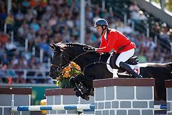 Smits Edwin, (SUI), Copain Du Perchet<br /> BMO Nations Cup<br /> Spruce Meadows Masters - Calgary 2015<br /> © Hippo Foto - Dirk Caremans<br /> 12/09/15
