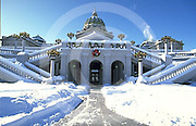 PA Capitol West Addition, Snow, Harrisburg, Pennsylvania
