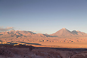 Desert and mountains on sunny day, Valle de la Luna, Atacama Desert, Chile