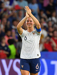 France's Amandine Henry celebrates with teammates during FIFA Women's World Cup France group A match France v Brazil on June 23, 2019 in Le Havre, France. France won 2-1 after extra time reaching quarter-finals. Photo by Christian Liewig/ABACAPRESS.COM
