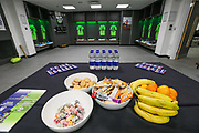 Forest Green Rovers dressing room during the Vanarama National League Play Off Final match between Tranmere Rovers and Forest Green Rovers at Wembley Stadium, London, England on 14 May 2017. Photo by Shane Healey.