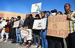 SOUTH AFRICA - Cape Town - 6 July  2020  - Members of the LGBTQ picketing outside the Khayelitsha Magistrate court,when the alleged killers of Liyabona Mabishi appeared.Maphishi was a lesbian woman,who was killed in what has been described as hate crime in Makhaza Khayelitsha. Picture: Phando Jikelo/African News Agency(ANA)