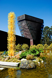 California, San Francisco: Tower of the de Young Museum in Golden Gate Park, a major museum of art..Photo #: 24-casanf78919.Photo © Lee Foster 2008