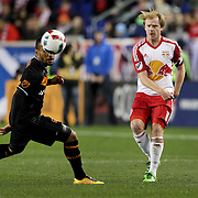 Dax McCarty, New York Red Bulls, in action during the New York Red Bulls Vs Houston Dynamo, Major League Soccer regular season match at Red Bull Arena, Harrison, New Jersey. USA. 19th March 2016. Photo Tim Clayton