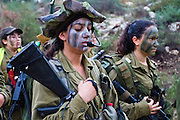 Israeli women from the Ma'agal unit participate in a pre-dawn march, central Israel, photography by Debbie Zimelman, Modiin Israel