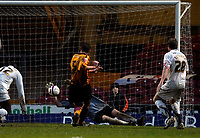 Photo: Jed Wee/Sportsbeat Images.<br /> Bradford City v Hereford United. Coca Cola League 2. 29/12/2007.<br /> <br /> Bradford's David Wetherall scores to peg Hereford back to 2-1.