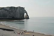 France, Normandy, Coast, Etretat, Porte d'Aval Arch